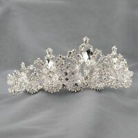 Gorgeous Clear Austrian Crystal Rhinestone Tiara Crown Bridal Party Pageant 6028
