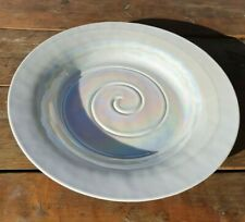Very Large Iridescent Glass Coffee Table Bowl. Pearlescent finish. Shell Design.