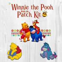 Winnie The Pooh Iron On Patch 3 Piece Set, (3) Separate Patches -USA Seller