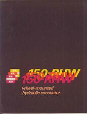Ruston Bucyrus 150-RHW wheel-mounted hydraulic excavator sales book
