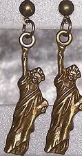 1 Paar Ohrstecker Liberty Freiheitsstatue USA antik bronze Ohrringe Ohrschmuck