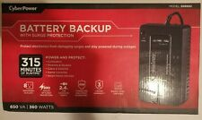 CyberPower SX650U 8-Outlet 650VA PC Battery Backup - Black NEW in Box