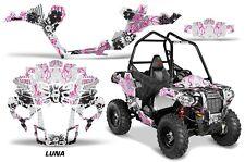"Polaris Sportsman ""ACE"" ATV Graphic Kit Wrap Quad Accessories Decals LUNA PINK"