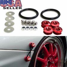 RED JDM BUMPER Quick Release Fasteners For Car Trunk Fender Hatch Lids Kit