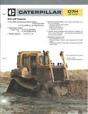 Equipment Brochure - Caterpillar - D7H LGP - Track-type Tractor - c1986 (E3986)