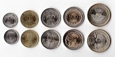 COLOMBIA - 5 DIF UNC COINS SET 50 - 1000 PESOS 2012 YEAR TURTLE FROG BIRD BEAR