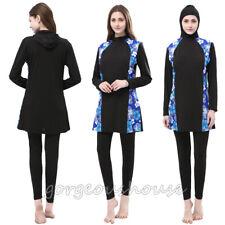 Muslim Women Full Cover Swimwear Islamic Modest Swimsuit Beachwear Arab Burkini