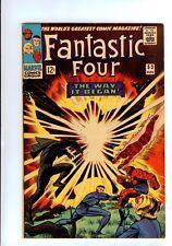 Marvel:Fantastic Four #53 2ND BLACK PANTHER/ORIGIN KIRBY ART  HIGH GRADE 7.5VF-