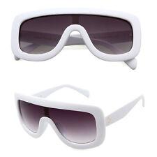Large Oversized Leopard Sunglasses Flat Gradient Lens Thick Frame Women Vintage