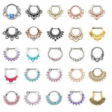 Real Piercings Nose Ring Nariz Body Jewelry Septum Clicker Nose Piercing Earring