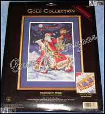 Dimensions Gold MIDNIGHT RIDE Christmas Counted Cross Stitch Picture Kit - 1999