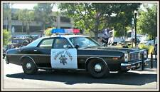 Old Photo. 1977 Dodge Monaco California Highway Patrol Police Car