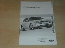 39971) Ford Mondeo Futura Preise & Extras Prospekt 08/2002