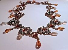 QUALITY! Vintage Runway Designer Faux Pearl Cabochon Crystal Choker NECKLACE