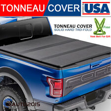 Fits 2019-2021 Chevy Silverado 1500 Solid Hard Tri-Fold Tonneau Cover 5.8ft Bed