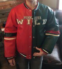 NHL Minnesota Wild Youth Bomber Varsity Leatherette Jacket Coat. Youth L 16/18