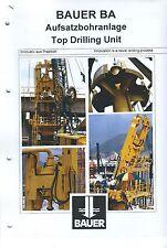 Equipment Brochure - Bauer - BA - Top Drilling Unit - c1996 (E3456)