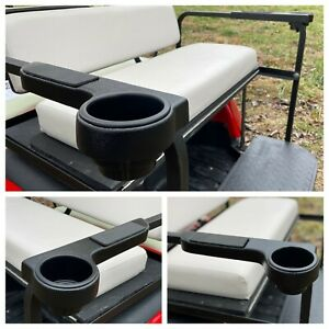 Universal Black Rear Seat Arm Rest Cup Holder for EZGO Club Car Yamaha Golf Cart