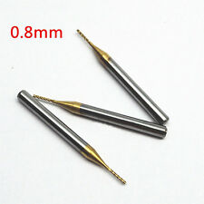 10X 0.8mm Tool Titanium Coated Carbide End Mill Engraving Bits #V Milling Cutter