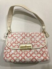 NWT COACH 45088 B4/F2 KRISTIN OP ART SEQUINS TOP HANDLE POUCH PURSE