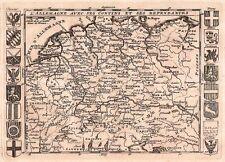 Carte antique, l'Allemagne avec ses confins et ses dependances