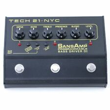 Tech 21 SansAmp Programable Bass Driver DI Bass Guitar Effects Pedal P-07219