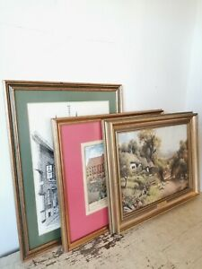 Collection Of 3 X Gilt Gold Ornate Picture Frames