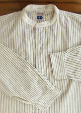 Striped utility shirt CC41 Collarless Mentor War time tunic 1940s WW2 Size 14.5