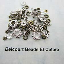 500 Assorted Metal Beads Brass and Silver 4mm 12mm Lead Nickel and Cadmium Free