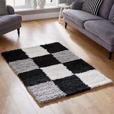 Best Quality Black Grey Soft 5cm Pile Shaggy Large 180x270cm Modern Rug