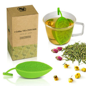 2PCS Tea Infuser Loose Tea Leaf Strainer Herbal Spice Silicone Filter Diffusers