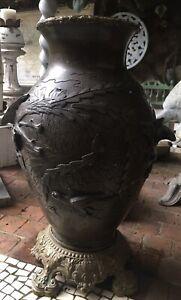 Vase en bronze Japon Meiji debut XXe