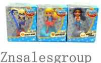 "DC Super Hero Girls 3"" Action Figure 3PC Set Supergirl/Wonder women/Harley Quinn"