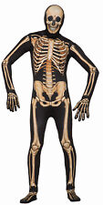 Adult Skeleton Disappearing Man Costume Jumpsuit w/ Printed Bones Size Standard