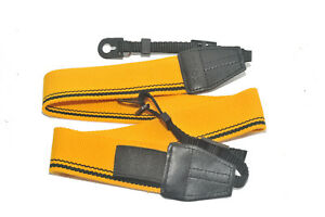 Kood High Quality Retro Style DSLR Camera Neck shoulder Strap Yellow & Black