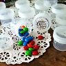 24 Empty Jars 1 ounce Screw Cap Containers Clear Lid Charms 4304 DecoJars USA