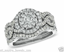 2.03 CT BRILLIANT CUT DIAMOND RING WEDDING BAND 14KT SOLID WHITE GOLD