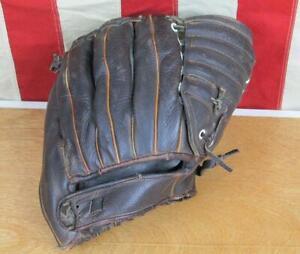 Vintage 1950s Cambridge Leather Baseball Glove Mitt HOF Stan Musial Cardinals