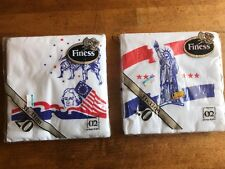 "Vintage Finess Dinner Paper Napkins ""Americana"" Print 3-Ply Velvet Soft 20-count"