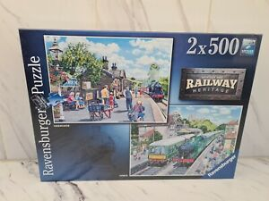 Ravensburger 2 x 500 piece jigsaw puzzles Brand New Sealed No 1 Railway Heritage