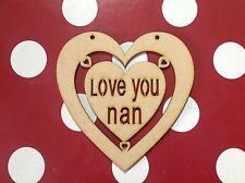 Large Wooden Heart Craft Shape