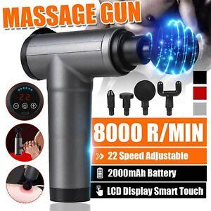 Elektrische Massage Gun LCD Massagegeräte Muskel Massagepistole Therapie Massage