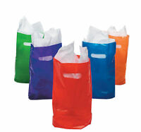 50 Assorted Colorful Plastic Bags Gift Tote Goodie  Party favors