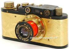 Zorki I Soviet 35mm Rangefinder Camera made into a collectable LEICA II ( copy )