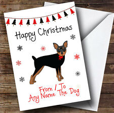 Miniature Pinscher From Or To The Dog Pet Personalised Christmas Card