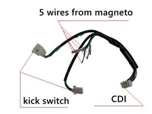WIRE LOOM WIRING HARNESS KICK START 50/70/90/125/140/150CC DIRT BIKE PIT TRAIL