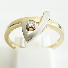 Ring Gold 375er 0,06 ct Brillant Goldringe Damen 9 kt. Diamant Edelstein