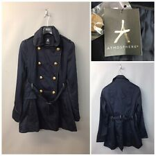 Atmosphere Women's Navy Trench Coat UK 10 EUR 38 Double Breasted New 97% Cotton
