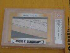 2014 LEAF CUT SIGNATURE JOHN F. KENNEDY JFK 1/1 PRESIDENT AUTOGRAPH HISTORIC