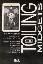 "30/1/93PGN06 TOILING MIDGETS : SON ALBUM ADVERT 7X5"""